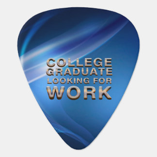 TEE College Grad Looking for Work Guitar Pick