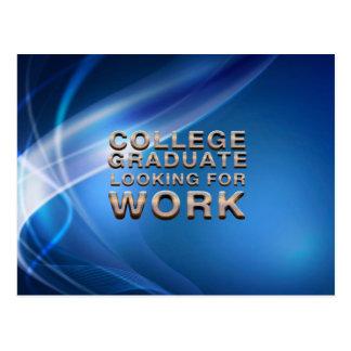 TEE College Grad Looking for Work Postcard