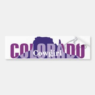 TEE Colorado Cowgirl Car Bumper Sticker