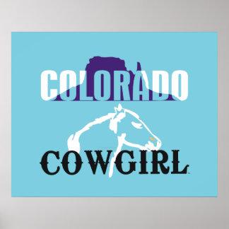TEE Colorado Cowgirl Poster