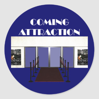 TEE Coming Attraction Classic Round Sticker