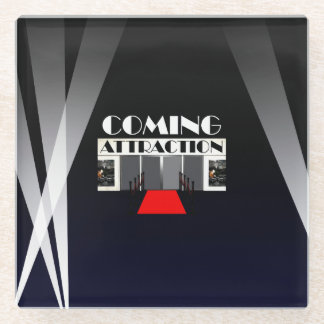 TEE Coming Attraction Glass Coaster