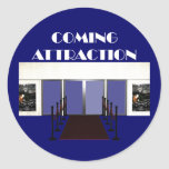TEE Coming Attraction Round Sticker