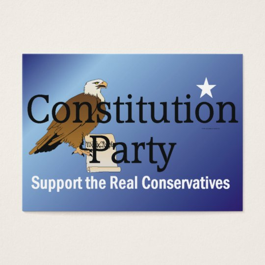 TEE Constitution Party Business Card