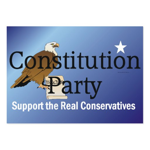 TEE Constitution Party Business Card Templates