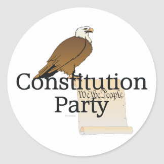 TEE Constitution Party Classic Round Sticker