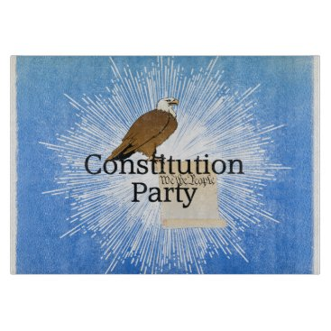 USA Themed TEE Constitution Party Cutting Board