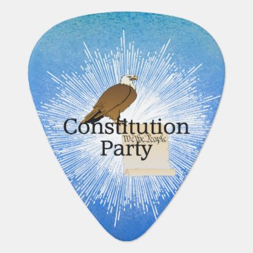 USA Themed TEE Constitution Party Guitar Pick
