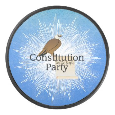 USA Themed TEE Constitution Party Hockey Puck