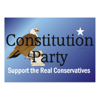 TEE Constitution Party Large Business Card