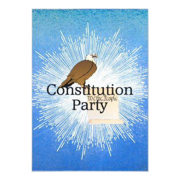 USA Themed TEE Constitution Party Magnetic Card