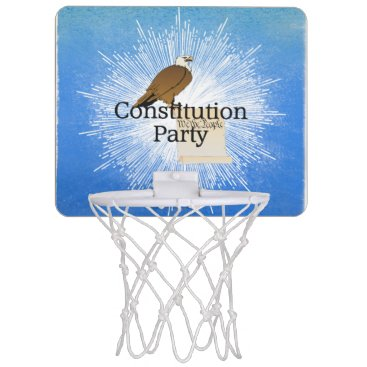 USA Themed TEE Constitution Party Mini Basketball Backboard