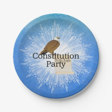 USA Themed TEE Constitution Party Paper Plate