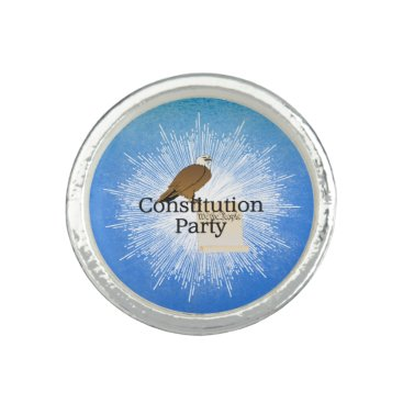 USA Themed TEE Constitution Party Rings
