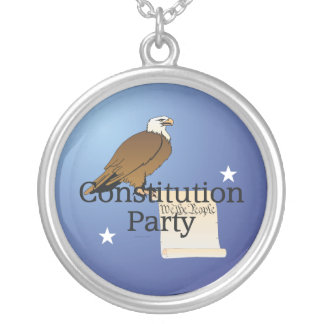 TEE Constitution Party Silver Plated Necklace