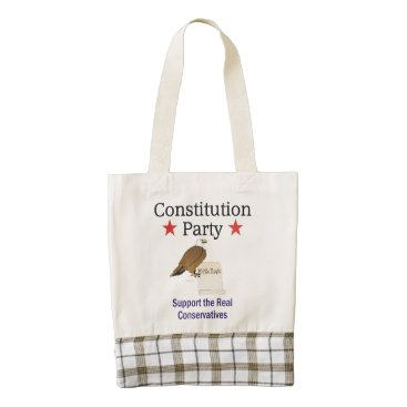 USA Themed TEE Constitution Party Zazzle HEART Tote Bag