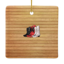 TEE Country Boots Ceramic Ornament