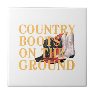 TEE Country Boots Ceramic Tile