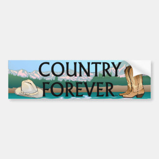 TEE Country Forever Bumper Sticker