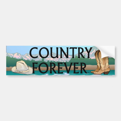 TEE Country Forever Bumper Stickers