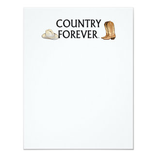 TEE Country Forever 4.25x5.5 Paper Invitation Card