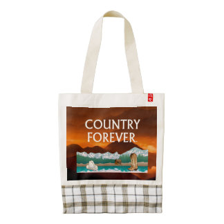 TEE Country Forever Zazzle HEART Tote Bag