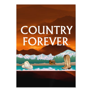 TEE Country Forever Magnetic Invitations