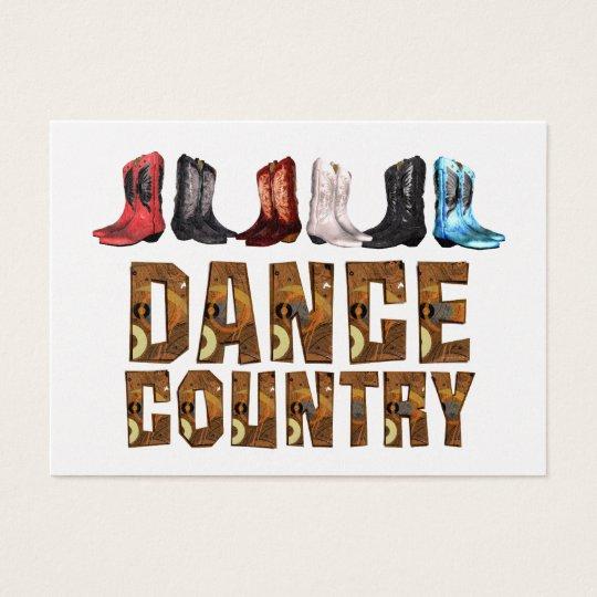 TEE Country Line Dance Business Card