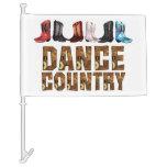 TEE Country Line Dance Car Flag