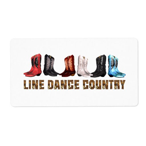 TEE Country Line Dance Label