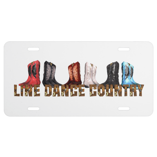 TEE Country Line Dance License Plate