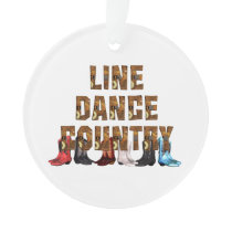 TEE Country Line Dance Ornament