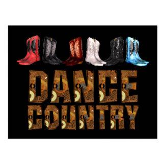 TEE Country Line Dance Postcard