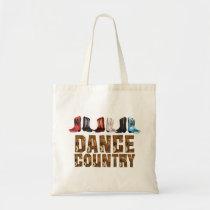 TEE Country Line Dance Tote Bag