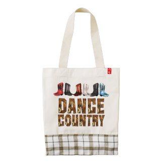 TEE Country Line Dance Zazzle HEART Tote Bag