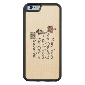 TEE Country Man City Girl Carved Maple iPhone 6 Bumper Case