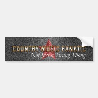 TEE Country Music Fanatic Car Bumper Sticker