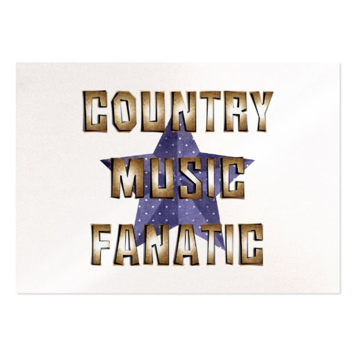 TEE Country Music Fanatic Business Card Template
