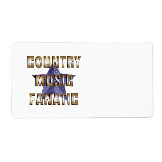 TEE Country Music Fanatic Label
