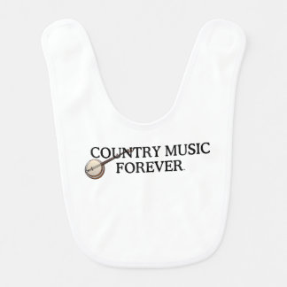TEE Country Music Forever Baby Bib