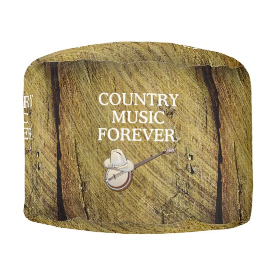 TEE Country Music Forever Pouf