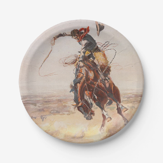 TEE Cowboy Life 7 Inch Paper Plate