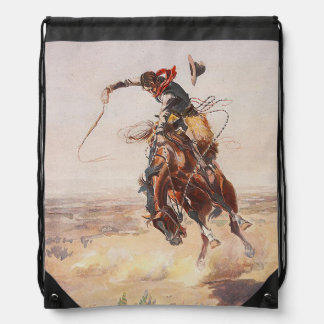 TEE Cowboy Life Drawstring Backpack