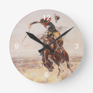 TEE Cowboy Life Round Clock