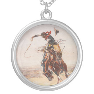 TEE Cowboy Life Round Pendant Necklace