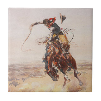 TEE Cowboy Life Small Square Tile