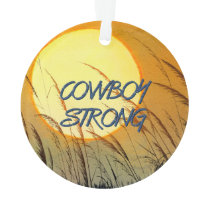 TEE Cowboy Strong Ornament