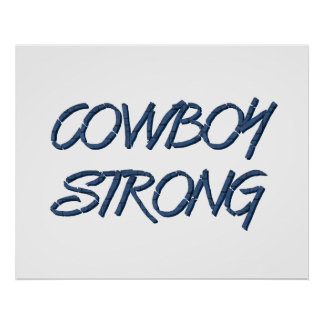 TEE Cowboy Strong Posters