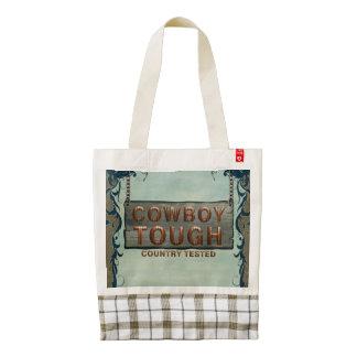 TEE Cowboy Tough Zazzle HEART Tote Bag