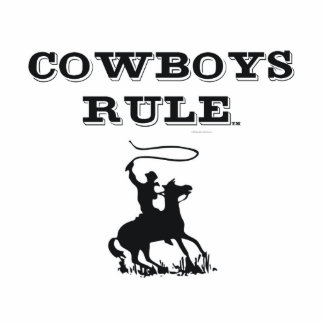 TEE Cowboys Rule Cutout